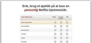 Gør Netflix personlig